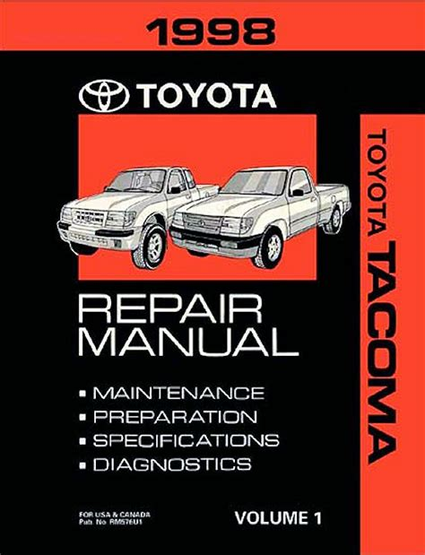 motor repair manual 1998 toyota tacoma auto manual 1998 toyota tacoma oem repair manual rm576u