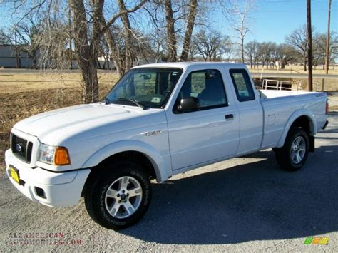 ranger ford 2005 2005 ford ranger edge supercab in oxford white a10450