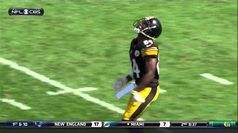 Steelers Antonio Brown kicks Browns punter Spencer Lanning ...