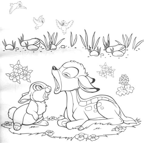printable bambi coloring pages  kids