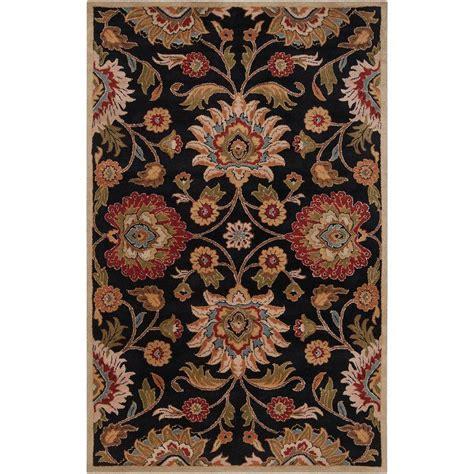 area rugs black artistic weavers amanda black wool 8 ft x 10 ft area rug 1335