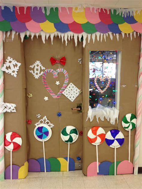 gingrbread house on school door gingerbread house classroom door decorating 2nd place winner classroom