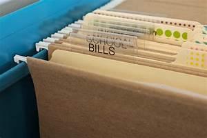 pretty filing With file label maker