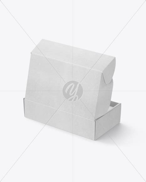 Kraft snack bars box mockup 2019. Opened Kraft Paper Mailing Box Mockup in Box Mockups on ...
