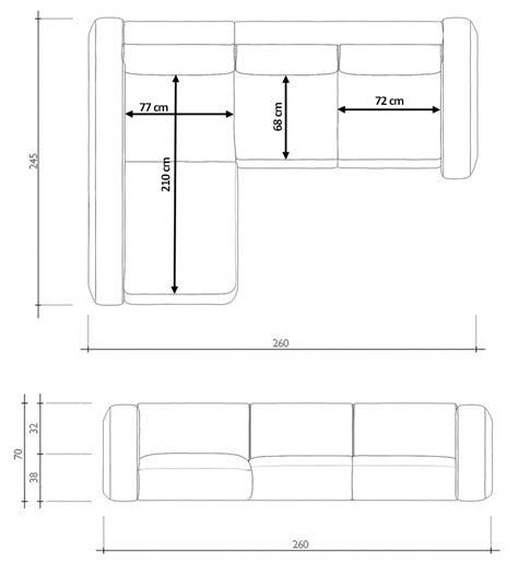 plan canap canapé d 39 angle design en cuir hays gdegdesign