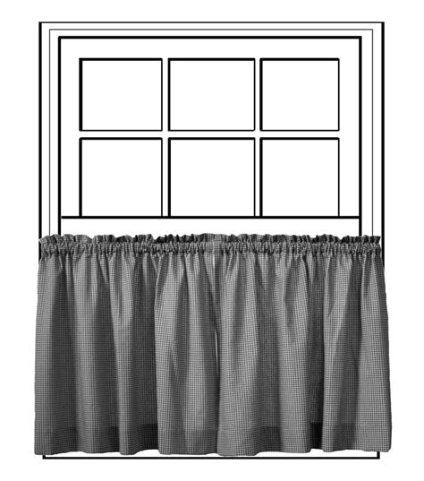 custom 50 quot wide tailored tier curtain panel a
