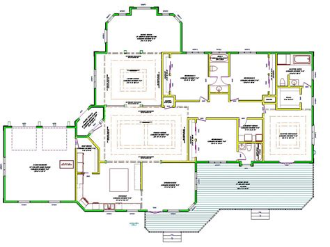 floor plans mansions single house plans single open floor plans