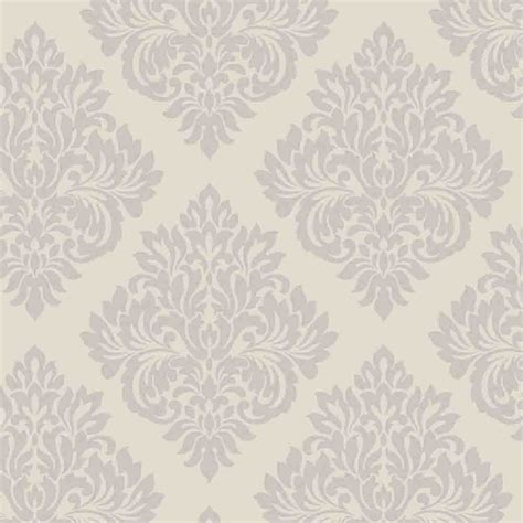 decorline sparkle damask wallpaper putty silver dl