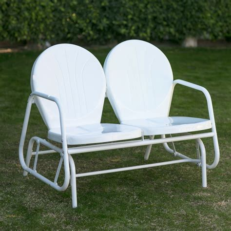 Loveseat Glider Outdoor by Coral Coast Vintage Retro Outdoor Glider Loveseat Ebay