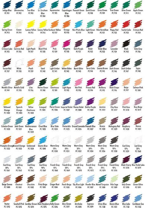 prismacolor pencils color chart overview premier colored pencils