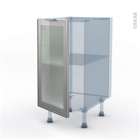 porte facade cuisine façade alu vitrée kit rénovation 18 meuble bas cuisine 1 porte l40xh70xp60 sokleo oskab