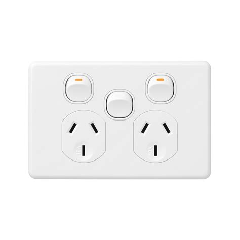 deta x6 white double power point with extra switch