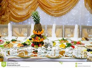 Wedding Reception Table With Food Stock Images - Image