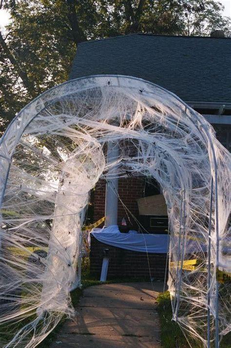 spider webs outdoor halloween decorations decoration love