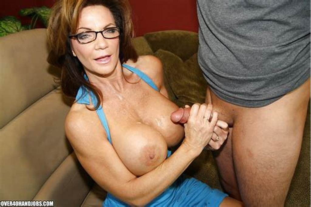 #Lusty #Mature #Lady #In #Glasses #Gets #A #Cumshot #On #Her #Big