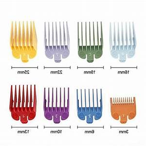 Hair Clippers  8 Sizes Guide Comb Set Rainbow