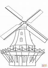 Coloring Mill Drawing Windmill Dutch Smock Printable Windmills Crafts Domain Getdrawings Categories sketch template