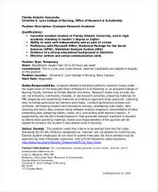 Graduate Assistant Resume Objective by Research Assistant Resume Template 5 Free Word Excel