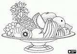 Coloring Pages Basket Pantry Fruit Printable sketch template