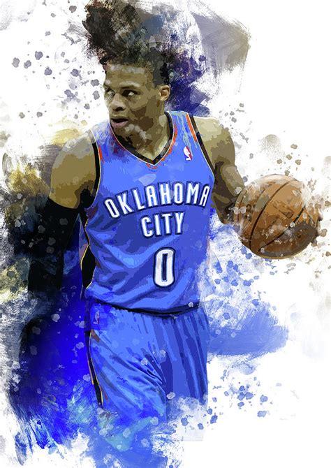 Russell Westbrook Oklahoma City Thunder Digital Art By