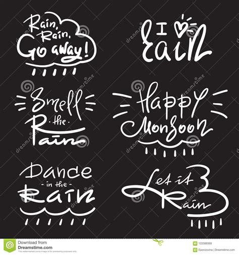 set  simple inspire  motivational quotes  rain