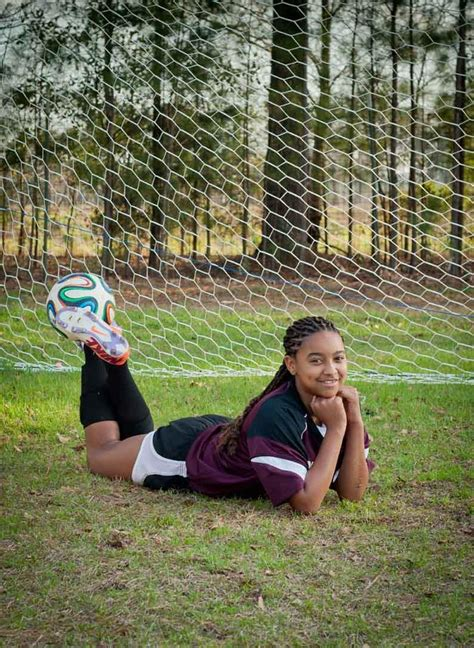 middle school girls soccer team portraits
