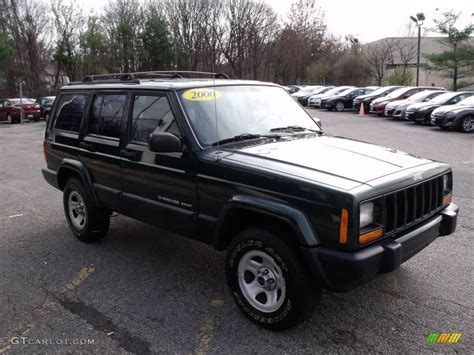 cherokee jeep 2000 2000 forest green pearl jeep cherokee sport 4x4 22215905