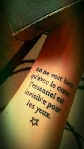 Tatouage Petit Prince : on ne voit bien q 39 avec le coeur l 39 essentiel est invisible ~ Farleysfitness.com Idées de Décoration