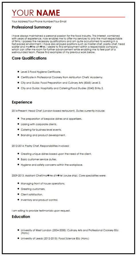 cv exle with a personal statement myperfectcv