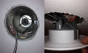 Drywall how do i get my recessed light fixture flush