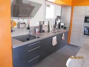 Plan De Travail Gris Anthracite : plan de travail gris anthracite maison design ~ Dailycaller-alerts.com Idées de Décoration