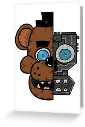 """The value of the gift card which they can use. """"Freddy (Five nights at Freddys)"""" Greeting Cards by Colin Doyle   Redbubble"""
