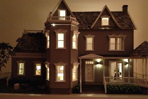 glenwood  night   exteriors lighting barbie doll house  scale pinterest