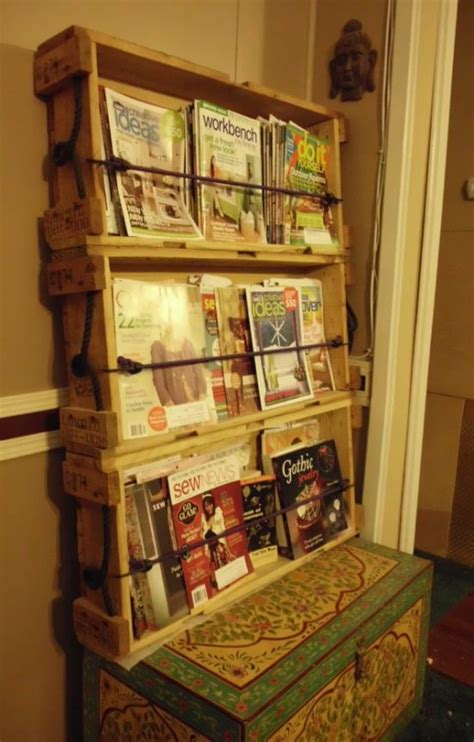 wooden magazine rack plans woodworking projects plans