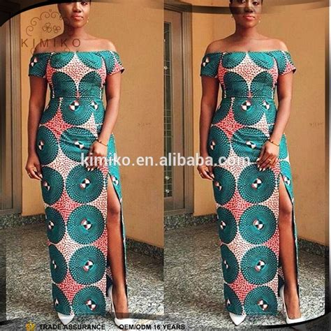arrival african long dress  shoulder african print