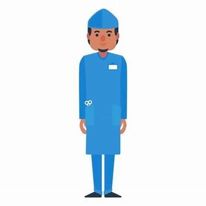 Doctor Character Male Flat Cartoon Transparent Characters