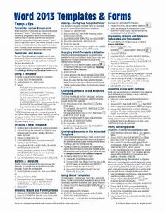 Microsoft Word 2013 Templates  U0026 Forms Quick Reference