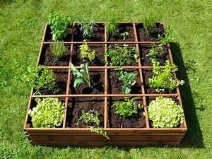 Mini Potager En Bois : carr potager en bois lignz 16 emplacements jardideco ~ Premium-room.com Idées de Décoration