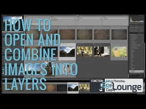 tips  opening  combining images  layers