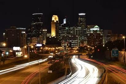 Minneapolis Wallpapers Skyline Night Desktop Kicking