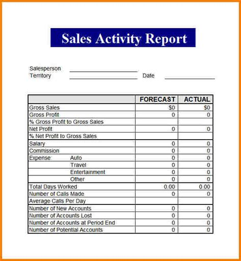 sales report template authorization letter
