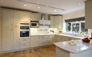 sage painted oak shaker kitchen ropley hshire