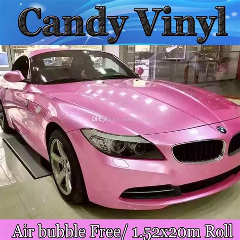 2018 2017 Pink Gloss Candy Vinyl Car Wrap Film With Air