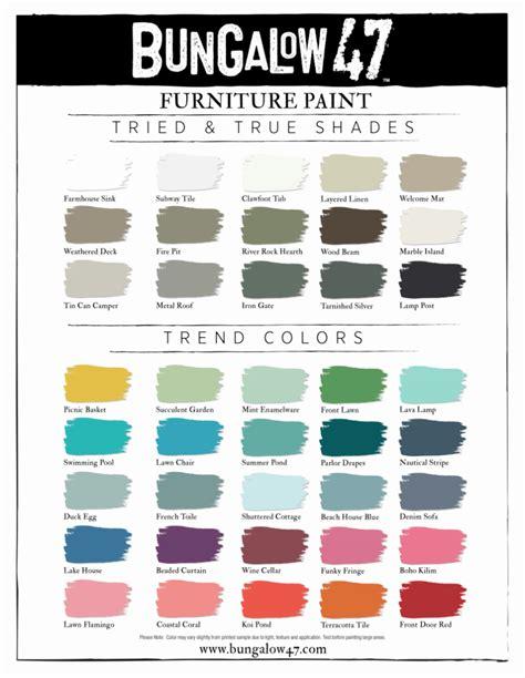 b47 color chart bungalow 47