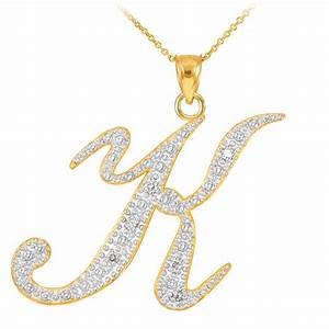gold diamond silver jewellery diamond script letter k With letter k necklace gold