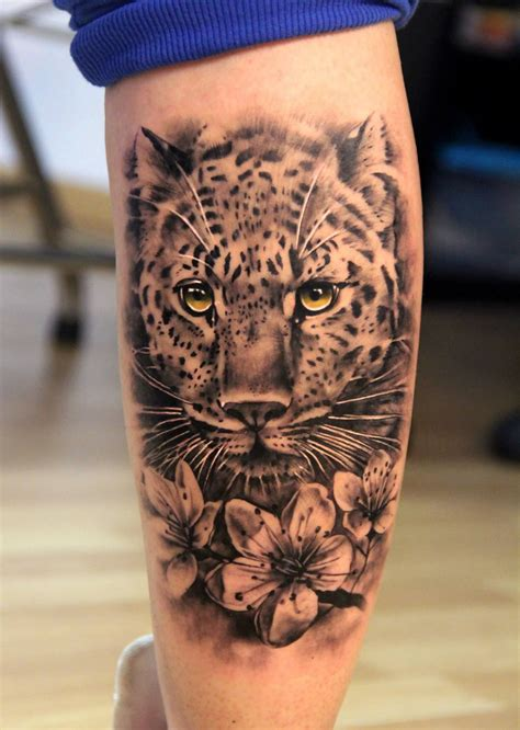 Leopard And Flowers Tattoo Not Impressed By Most Tattoos
