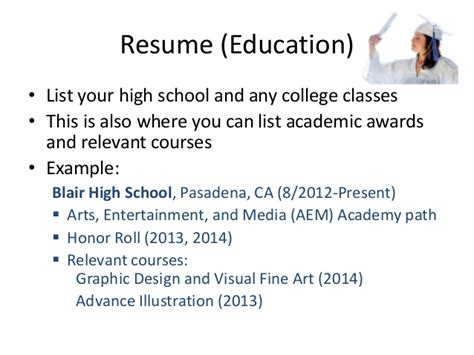 How To List Academic Awards On Resume by Resume Workshop Pasadena Library