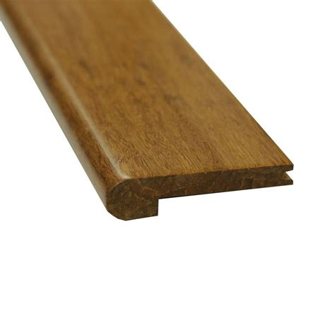 flush stair nose islander carbonized 7 16 in thick x 3 5 8 in wide x 72 3 4 in length strand bamboo flush