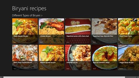 types  biryani recipes  windows