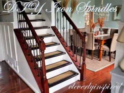 Replacing Banister Spindles by Diy Iron Spindles Staircase Remodel